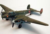 Soviet WW II airplanes scale models