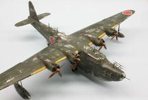 Japanes WW II airplanes scale models