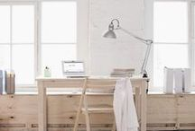 HOME OFFICE / beautiful + organized spaces for working at home
