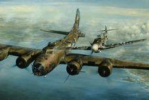 WW II Aviation art