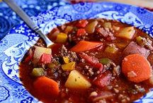 Beef Soups & Stews / features beautiful beef in bowls recipes!