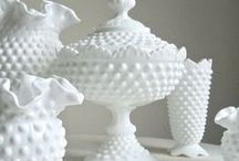 MILK GLASS CRUSH / form + function of vintage collectibles.