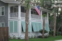 Sunbelt Shutters Bahamas / Exterior Wood Window Shutters, Bahamas Style built by Sunbelt Shutters