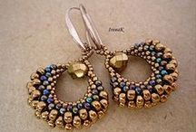 Beading:earrings/ plecione kolczyki