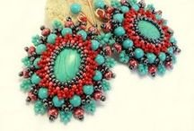 bead embroidery: earrings/ haft koralikowy kolczyki