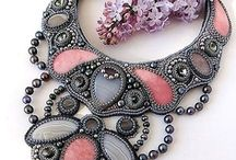 bead embroidery:necklaces/ haft koralikowy naszyjniki