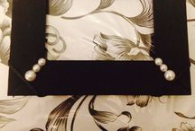 Crafts / DIY frames using ribbons, old earrings, acrylics...