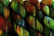 Dyeing and spinning yarn / Great dyeing/spinning ideas and beautiful yarns. / by R. Nicola