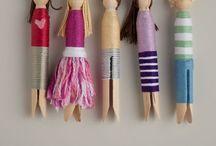 Clothespin and Peg dolls / Püppchen aus Wäscheklammern