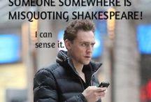 Tom Hiddleston... Because...