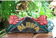 Tropical Wooden Signs / Hand carved Tropical wooden signs. Driftwood signs.