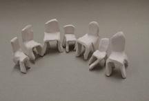 stoelen van klei/ clay chairs