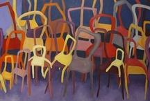 schilderen en stoelen/ paintings of chairs