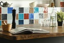 Chateaux - from the Residence collection / One of our proudest moments has been the introduction of the Chateaux range and the intricate details of the pattern coupled with the diverse colour palette have made this an instant bestseller. The patterns were inspired by cultures from around the globe but hand crafted in our factory. Each tile takes days to make as each of the colour glazes have to be applied one by one, with the tile fired in the kiln in between. Why not mix and patch to create a beautiful patchwork effect?