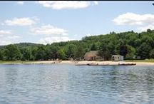 Lake Pinneo / Come to the best-kept, 50-acre secret in the northeast! Sand, charcoal grills, horseshoe pits, sand volleyball court, boat rentals and a playground are just a few of the things you will see at this great swimming hole.