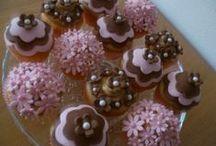 Mijn cupcakes / Zelfgemaakte cupcakes (chocolate-mint en banaan)