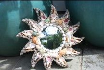 Tropical / Island Mirrors / Tropical and Island mirrors made from Driftwood, Lava Rock and Bamboo