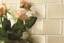 Arcadian tiles - from the Residence collection / Arcadian's calling card is a gentle crackle effect that forms as our ceramic tiles are baked in the kilns. When they emerge, you can often hear the soft pop as the crazed effect appears, making every tile totally unique. We have developed a capsule palette of chalky colours that look great on the walls of just about any area of your home. Field tiles, half tiles, two brick shapes and a choice of two mouldings make this collection really versatile and effortlessly sophisticated.