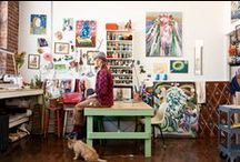 Work Spaces & Art Studios / I'm an artist so for me a work space and an art studio is the same thing. Here's some photos of work spaces and art spaces with a pinch of inspiration!