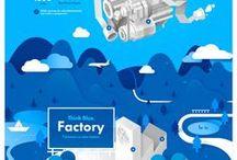 UI Inspiration: Blue / Inspiration based on the color blue