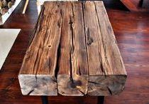 Rustic old wood coffee tables end tables