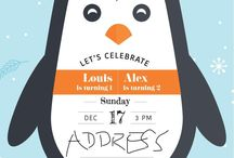 Louis's 1st & Alex's 2nd Birthday Party / Penguin and Winter Onederland Theme