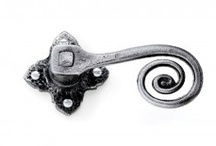Rustic Antique Door Handles / Black and pewter door handles and fittings in a rustic or antique cottage style.  Usually Iron or steel and mostly hand made.  A selection from our massive range follows.  MOST BLACK ITEMS CAN BE MADE IN PEWTER!