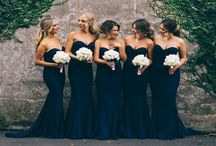 Bridesmaids Dresses and Shoes / Within this page the dresses themselves are mainly for idea's. While the colors will be navy or dark blue and lilac purple with potentially the material and dress pattern of your choice or just pattern of your choice. Yet to decide.