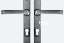Handles for Multipoint 92mm Patio Door Locks / Lever door handles for multipoint type locks found on patio doors, usually 92mm.  Many finishes available.