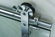 Sliding Door Gear Track and Handles  / Fittings, track, gear and handles for sliding and pocket doors.  Many different styles and finishes.