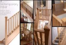 Timber Staircase Balustrades / A selection of timber staircase balustrades.