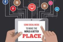 Infographic: The Power of Social Media / When businesses and marketers hear the words social media, they automatically think marketing. For others, the first thought that comes to mind is connecting with friends. But recently, social media has proven that it has the power to be much, much more than either of those things. It can actually be a force for good in the world. Check out our infographic below for a glimpse into some of the ways social media is being used to make the world a better place.