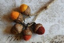 Felted Wool Beads, Charms and Pendants / New felted wool beads in the shop!