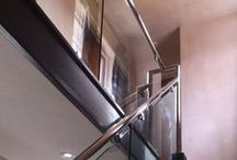 Steel Staircases / A range of staircase installations featuring metal rails