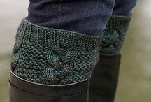 Boot Cuff, Sock and Leg Warmer Knitting Patterns