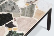Terrazzo / Let us take you back 500 years ago, terrazzo was discovered in Italy. Terrazzo literally means 'Terraces' in Italian, and was born out of frugality in the 15th century, when local Italian marble workers were unable to afford marble for their own terraces. We love it!