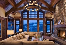 Lovely Living Rooms / Living Room inspiration for those who like it warm and cozy