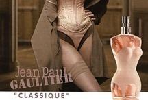 Jean Paul Gaultier Parfums / Het Franse modemerk Jean Paul Gaultier is uitdagend, vernieuwend en soms zelfs shockerend. Strakke lijnen die de vrouwelijke of mannelijke vormen van het lichaam benadrukken ziet u niet alleen terug in de kleding maar ook in sommige ontwerpen van de parfumflesjes.
