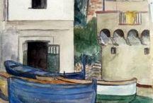 Collection E. Harovitz / Jewish aquarellist from the pre-ww II period.