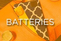 Batteries / Different sizes and power capacities to fit all of your charging needs