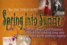 Spring into Summer Facebook Party / Fantasy, angst, and romance to keep you reading long into the warm summer nights! https://www.facebook.com/events/450396481762085/450957898372610