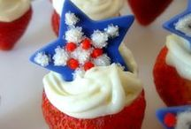 Patriotic Candy Recipes and Edible Crafts / Red, white, and blue all-American sweets!