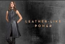 The Black Leather Glam Touch_FW 15-16 / Slick noir leather looks sharp...It gives your outfit an instant wow factor with a rock glam touch!