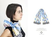 We Made Shawls / Dutch design duo Leendert meets Ingrid created a collection of six illustrated shawls printed on 100% silk.