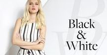Black and white:The perfect contrast! SS16 / We love this classy combo that masters the season!