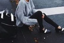 Street Style / Chic street style inspiration featuring lovely legwear - tights, socks, leggings, and more!