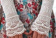 Háčkované i pletené rukavičky
