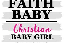 CHRISTIAN BABY GIRL ONESIES #FaithBaby / Christian Baby Onesies, Rompers are the perfect gift for sharing the Lord of Jesus! Search our large selection of Christian apparel for your little ones