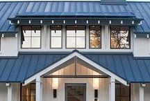 Metal Roof Colors / Our high-quality metal roofing products are available in a variety of on-trend, fade resistant colors and finishes, including copper, slate, and farmhouse red. Visit our website to browse our full gallery.