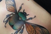 Tattoo bugs foxes flowers